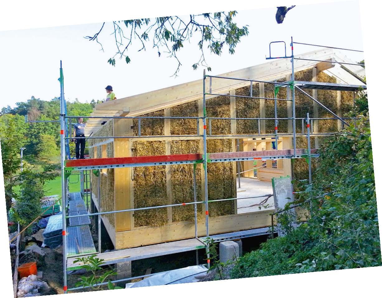 Das erste EM-Strohballenhaus