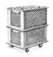 Mobiles Hochbeet; Gemüse oder Bäckereikisten gestapelt (siehe auch Stapelkisten von Ayumi im EMJournal 43)