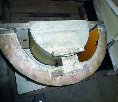 Seitdem EM-Keramikpulver beigemischt wird, lassen sich die Formen erheblich leichter reinigen.