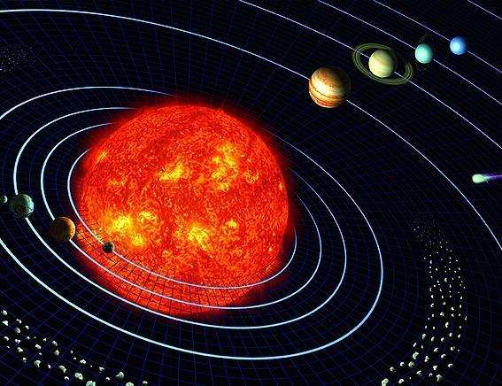 Im Grossen wie im Kleinen: Vom Atomkern mit seinen Umlaufbahnen bis hin zu unserem Sonnensystem. Die Formen der Welt werden im Mandalla übernommen.