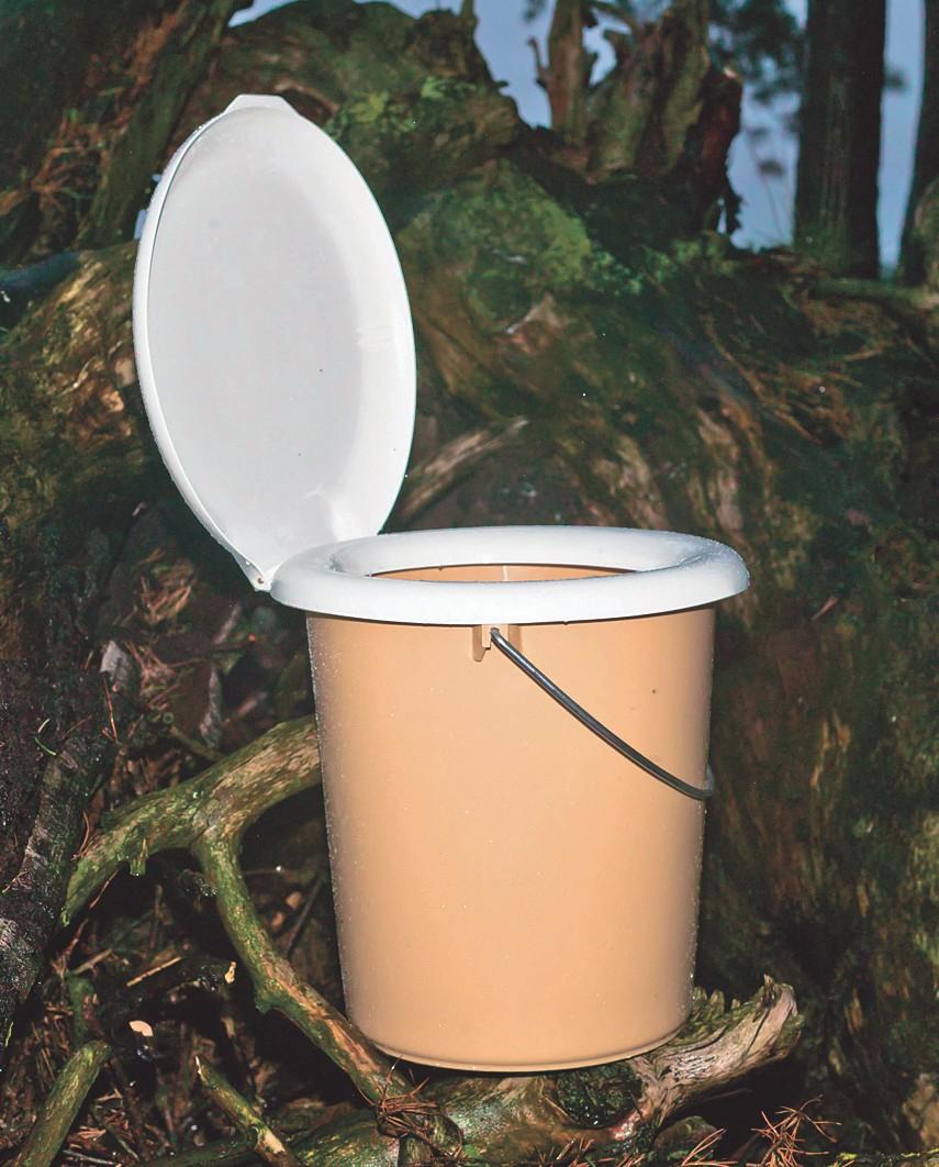 Modell einer Komposttoilette