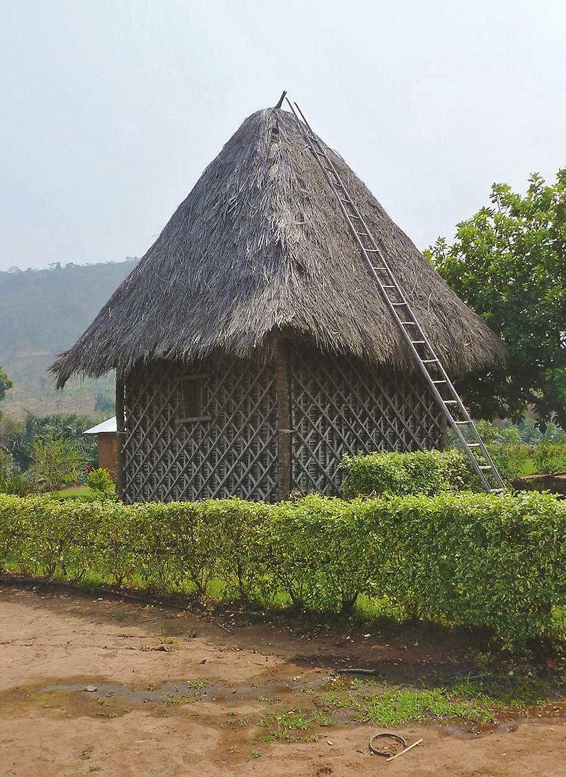 Traditionelles kleines Wohnhaus auf dem Land