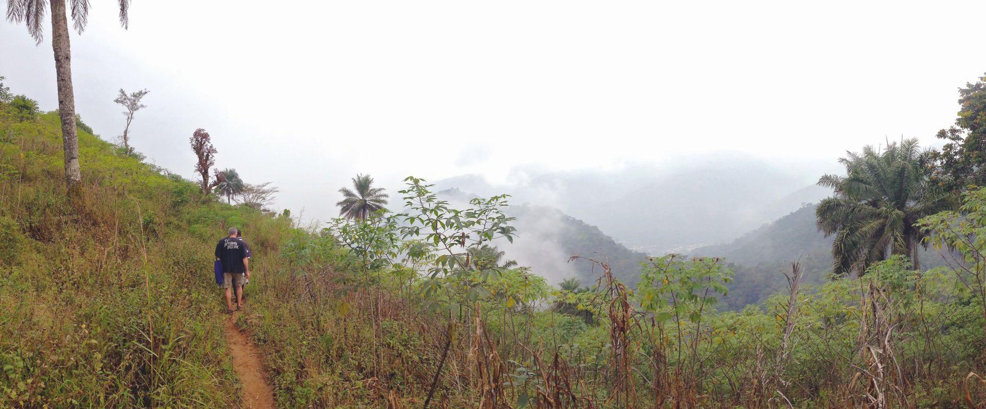 Umgebung des Dorfes, wo wir fünf Tage verbrachten.