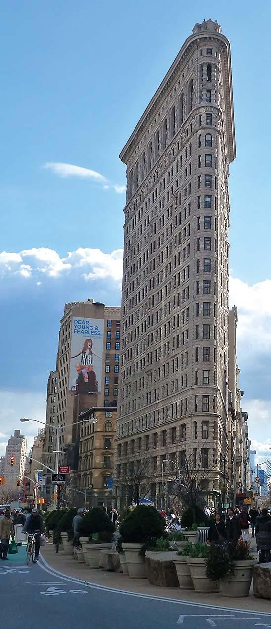 Selbst in den Töpfen auf dem Platz vor dem Flatiron Building in Manhattan könnte Bokashi eingebracht werden.