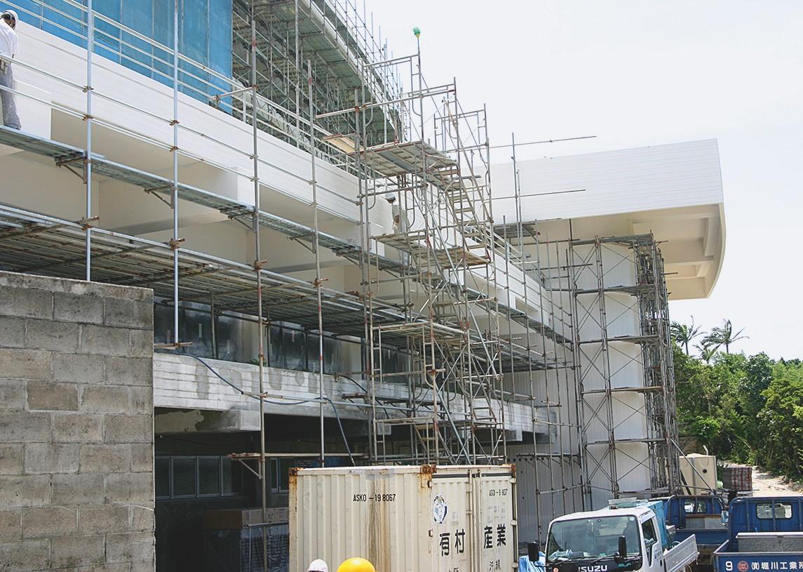 Die letzte Phase der Renovierung im Sommer 2005