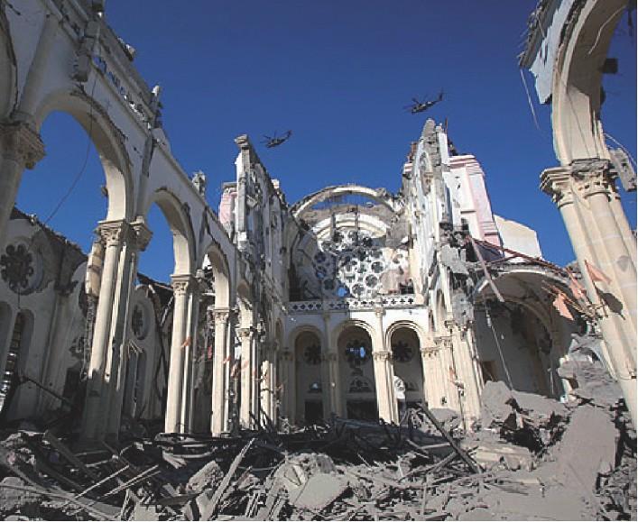 Die zerstörte Kathedrale von Port-au-Prince