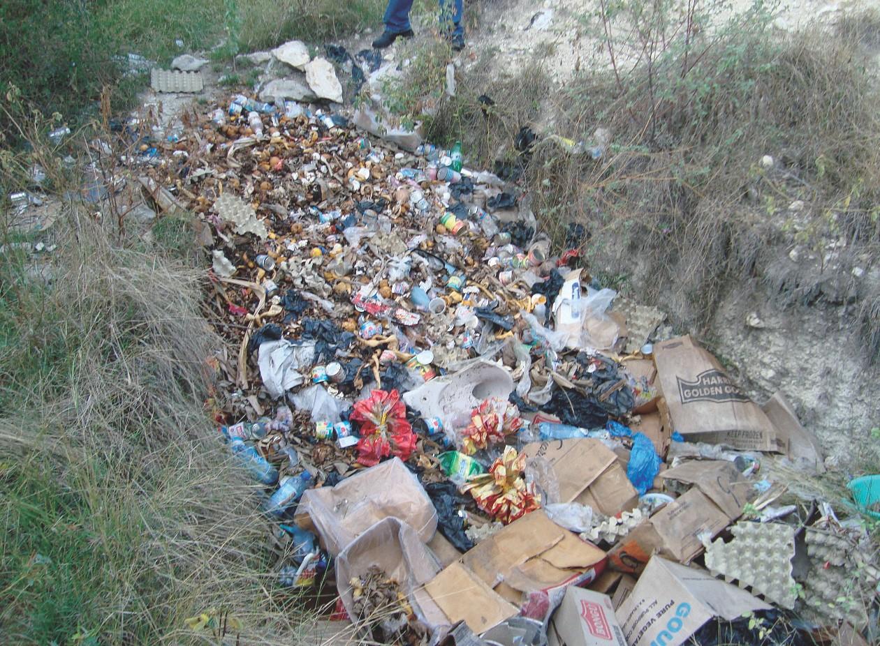 Müll wird in Gruben mit EM entsorgt.