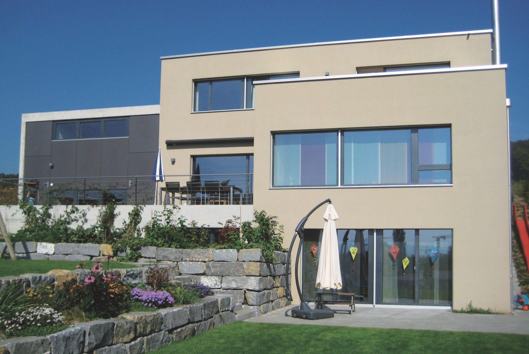 Das EM-Haus der Familie Abt in Oftringen, Schweiz