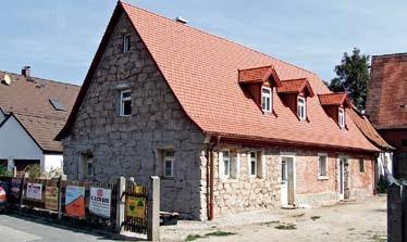 Haus in Kriegenbrunn bei Frauenaurach vor dem Verputzen
