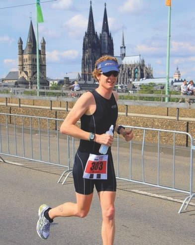 Christian Bodach beim Köln-Triathlon.