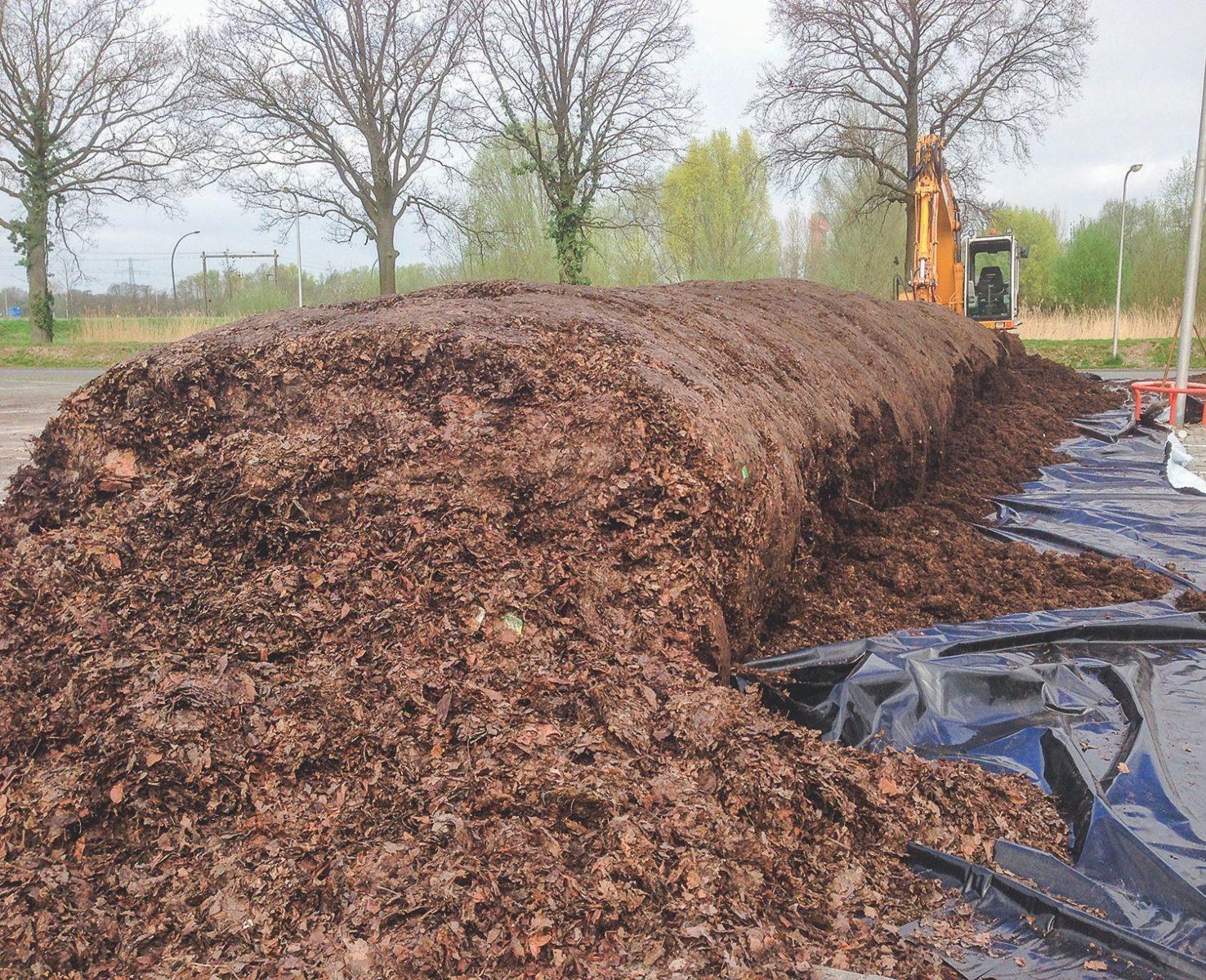 In Hengelo wird das fermentierte Material im Frühjahr in Parks, Gärten und auf anderen kommunalen Flächen ausgebracht.