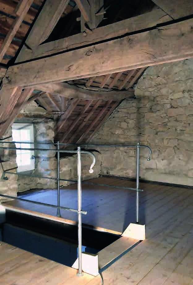Das Dachgeschoss hat viele Effektive Mikroorganismen aufgesaugt. Schon jetzt hat es mehr Charakter als der Neubau.