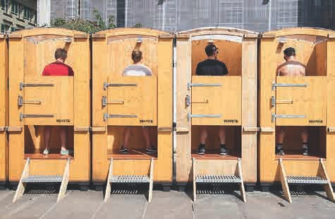 KOMPOTOI Urinoir-Variante für Veranstaltungen