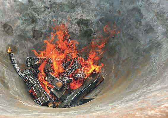 Beim Brennen entsteht kaum Rauch.