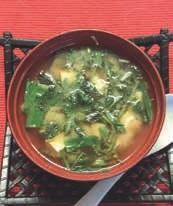 Misosuppe mit Brennessel