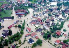 Häuserüberflutung in kurzer Zeit