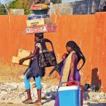 Üblicher Transport in Afrika