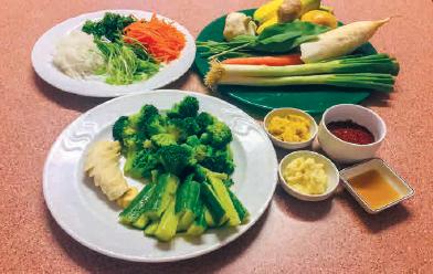 Zutaten für Brokkoli Kimchi