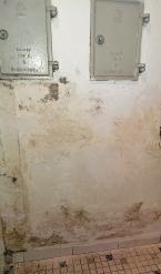 Nachdem das Wasser weg ist, drückt die Feuchtigkeit in den Wänden den Putz nach außen – in einem solchen Fall muss er abgeschlagen werden.